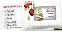 Card christmas elegant