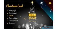 Card christmas elegant lights