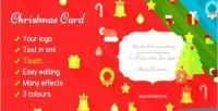 Card christmas flat
