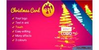 Card christmas lights of tree