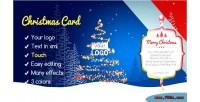 Card christmas magic forest