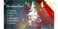 Card christmas magic lights