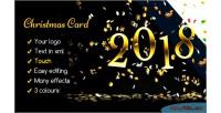 Card christmas rain confetti elegant