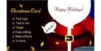 Card christmas santa door claus the open