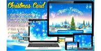 Card christmas super fireworks