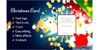 Card christmas you for gift