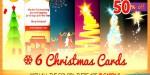 Christmas six 2 bundle cards