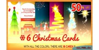 Christmas six 2 bundle cards