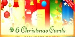 Christmas six cards bundle