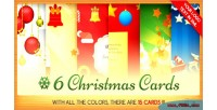 Christmas six cards bundle