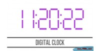 Clock digital html5 canvas