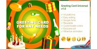 Greeting html5 card universal