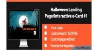 Halloween interactive landing page 1 card e halloween
