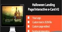 Halloween interactive landing page 2 card e halloween