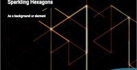 Hexagons sparkling