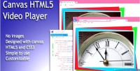 Html5 simple video canvas with player