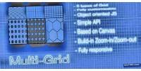 Multi canvas grid construction