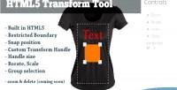 Transform html5 tool
