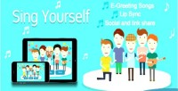 Yourself sing greeting canvas html5 card