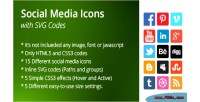 Icons social codes svg with