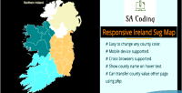 Ireland svg responsive fully map