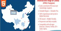 Map interactive html5 china of
