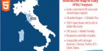 Map interactive html5 italy of