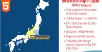 Map interactive html5 japan of