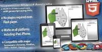 Map responsive html5 australia of
