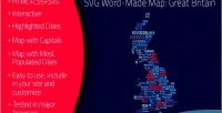 Word svg made britain great map