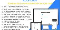 Advanced regform multi registration step form ajax html