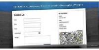 Html5 ajax contact form maps google with
