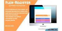 Flex register bootstrap 3 register for lightbox
