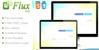 Flux login register form validation jquery with