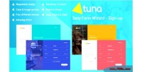 Form tuna wizard login signup questionnaire & reservation