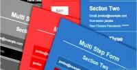 Jquery html5 form step multi