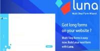 Multi luna step form commerce e service reservation questionnaire
