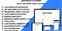 Multi signupform step form signup ajax html5