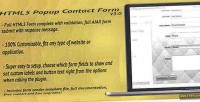 Html5 pop up contact ajax with form