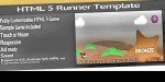 5 html runner bronze template game