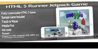Html 5 sidescrolling jetpack template game runner
