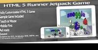 Html 5 sidescrolling jetpack template game runner