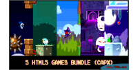 5 html5 pixel games capx bundle