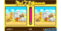 7 find differences game educational html5 game included capx