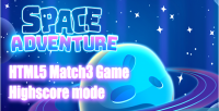 Adventures space game html5 match3