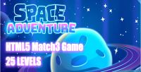 Adventures space html5 game levels 25
