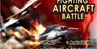 Aircraft fighting battle game mobile html5
