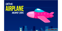Airplane cartoon game cards memory