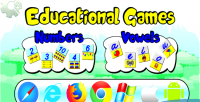 And numbers vowels educational html5 games mobile and