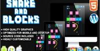 And snake blocks game skill html5